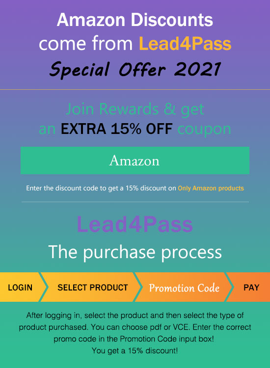 lead4pass amazon discount code